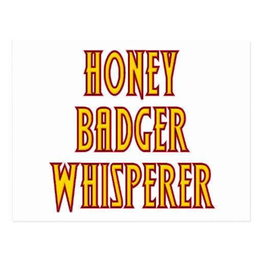 Whisperer del tejón de miel postales