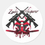 Whisperer del zombi etiquetas redondas