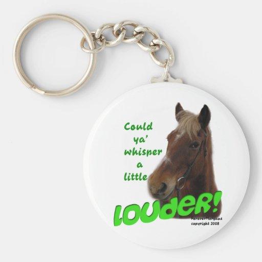 Whisperer divertido del caballo de ForeverMorgans Llaveros Personalizados