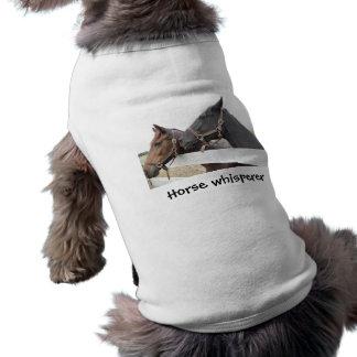 Whisperer original del caballo camiseta sin mangas para perro