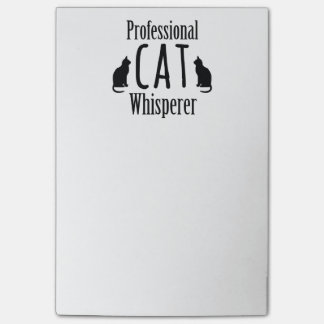 Whisperer profesional del gato post-it notas