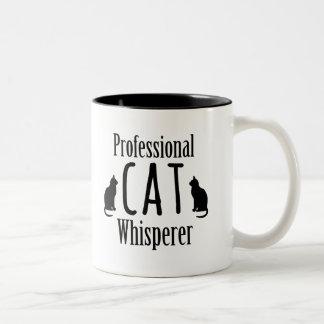 Whisperer profesional del gato taza de dos tonos