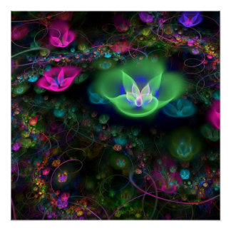 Whispering Flowers 20x20 Perfect Poster