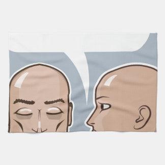 Whispering in the ear speech bubble hand towels