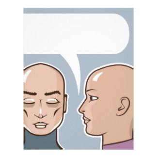 Whispering in the ear speech bubble letterhead