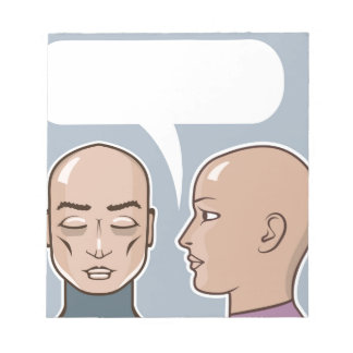Whispering in the ear speech bubble notepad