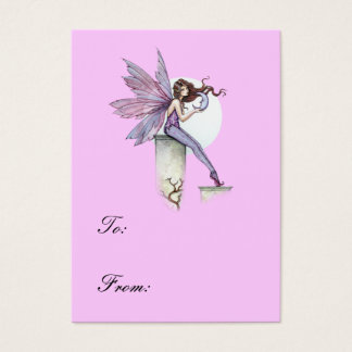 Whispering Moon Fairy gift Tag