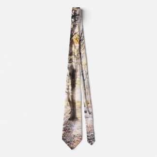 Whispering woodland in autumn fall neck tie