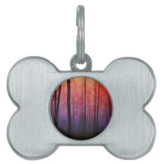 Whispering Woods Trees Forest Landscape Art Pet Tag