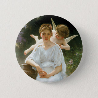 Whisperings of Love, William Adolphe Bouguereau Button