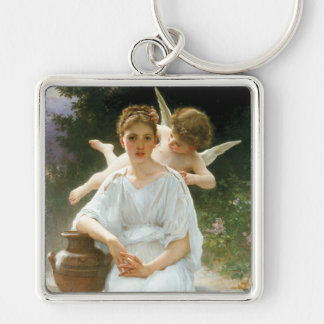 Whisperings of Love, William Adolphe Bouguereau Keychain