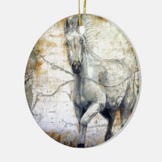 Whispers Across the Steppe Ceramic Ornament