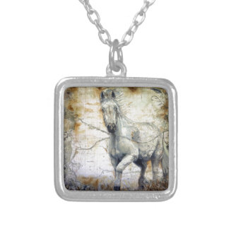 Whispers Across the Steppe Silver Plated Necklace