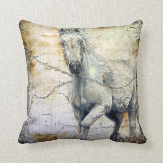 Whispers Across the Steppe Throw Pillow