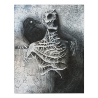 Whispers of a hidden fear - macabre artwork faux canvas print
