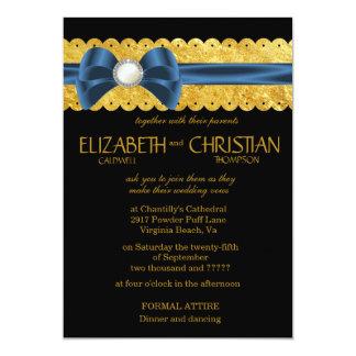 Whispers Satin Ribbon & Bow Wedding Invitations