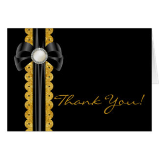 Whispers with Brooch Wedding Thank You Card