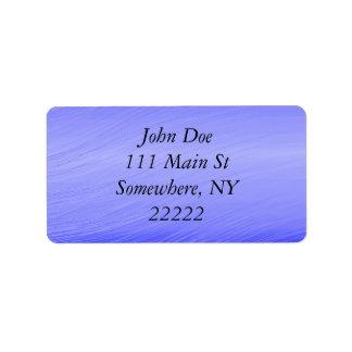 Whisps azul etiqueta de dirección