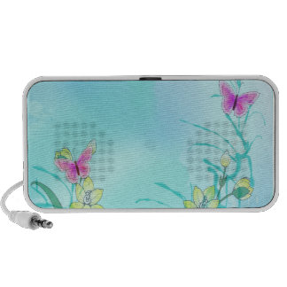 Whispy blues with butterflies portable speakers