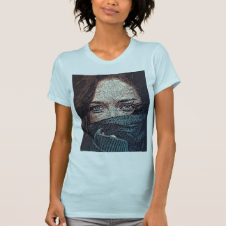 Whispy girl with scarf T-Shirt