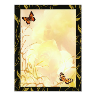 Whispy gold and yellows card