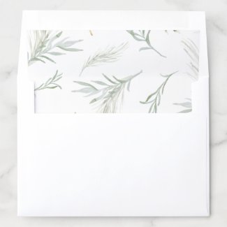 Whispy Greenery Envelope Liner
