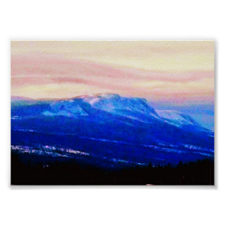 Whispy Mountains, Newfoundland, Canada Photo Art Poster