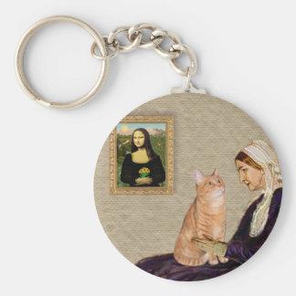Whisterls Mother - Orange Tabby SH cat 46 Basic Round Button Keychain