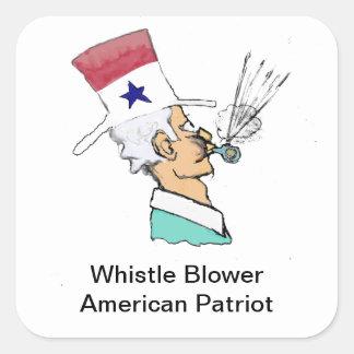 Whistle Blower - American Hero Square Sticker