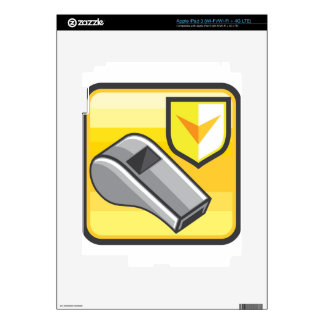 Whistle Icon Webstyle iPad 3 Decals