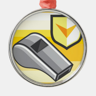 Whistle Icon Webstyle Metal Ornament