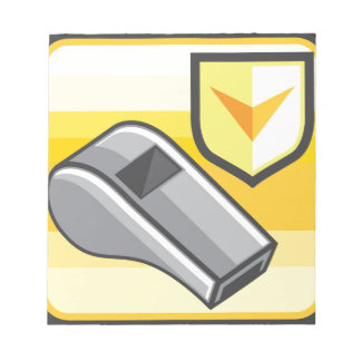 Whistle Icon Webstyle Notepad