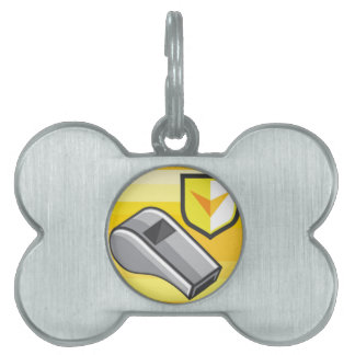 Whistle Icon Webstyle Pet Name Tag