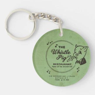 Whistle Pig Restaurant Double-Sided Round Acrylic Keychain