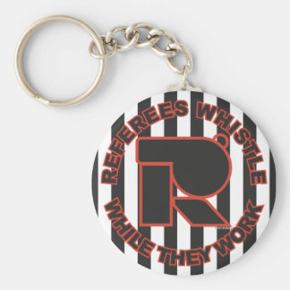Whistle While You Work Basic Round Button Keychain