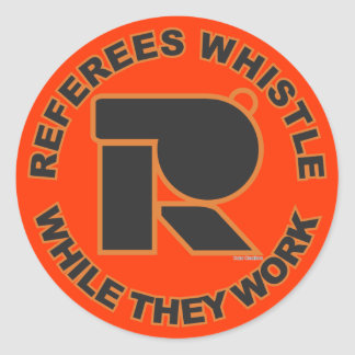 Whistle While You Work Classic Round Sticker