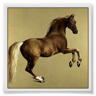 Whistlejacket Race Horse by Stubbs Poster