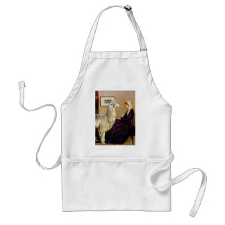 Whistler's Mother's Llama Adult Apron