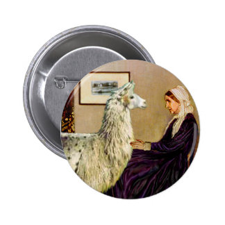 Whistler's Mother's Llama 2 Inch Round Button