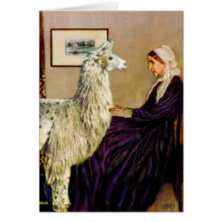 Whistler's Mother's Llama Card