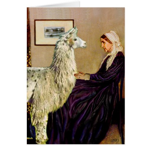 Whistler's Mother's Llama Cards
