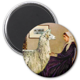 Whistler's Mother's Llama 2 Inch Round Magnet