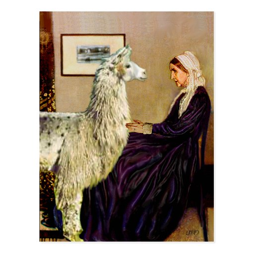 Whistler's Mother's Llama Post Card