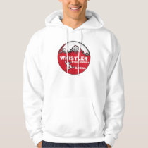 Whistler British Columbia red board guys hoodie