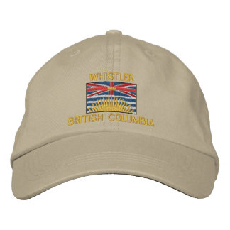 WHISTLER, BRITISH COLUMBIA with Flag Embroidered Baseball Cap