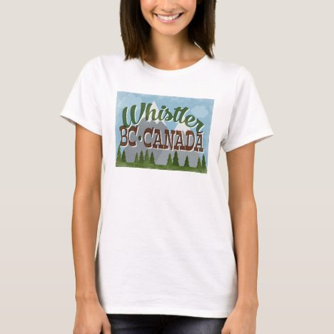 Whistler Canada Fun Retro Snowy Mountains T-Shirt