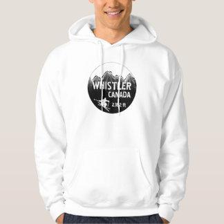 Whistler Canada guys ski art hoodie