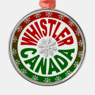 Whistler Canada red green ornament