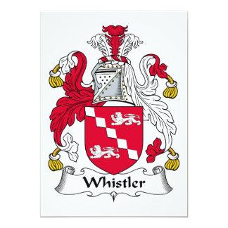 "Whistler Family Crest 5"" X 7"" Invitation Card"