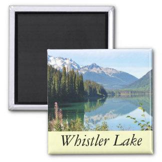 Whistler Lake 2 Inch Square Magnet